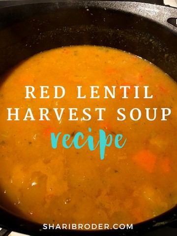 Red Lentil Harvest Soup | Weight Loss for Foodies