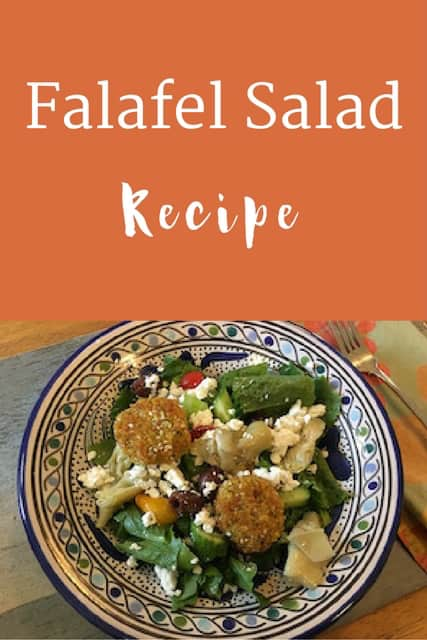 Falafel Salad--a delicious summer salad | Weight Loss for Foodies