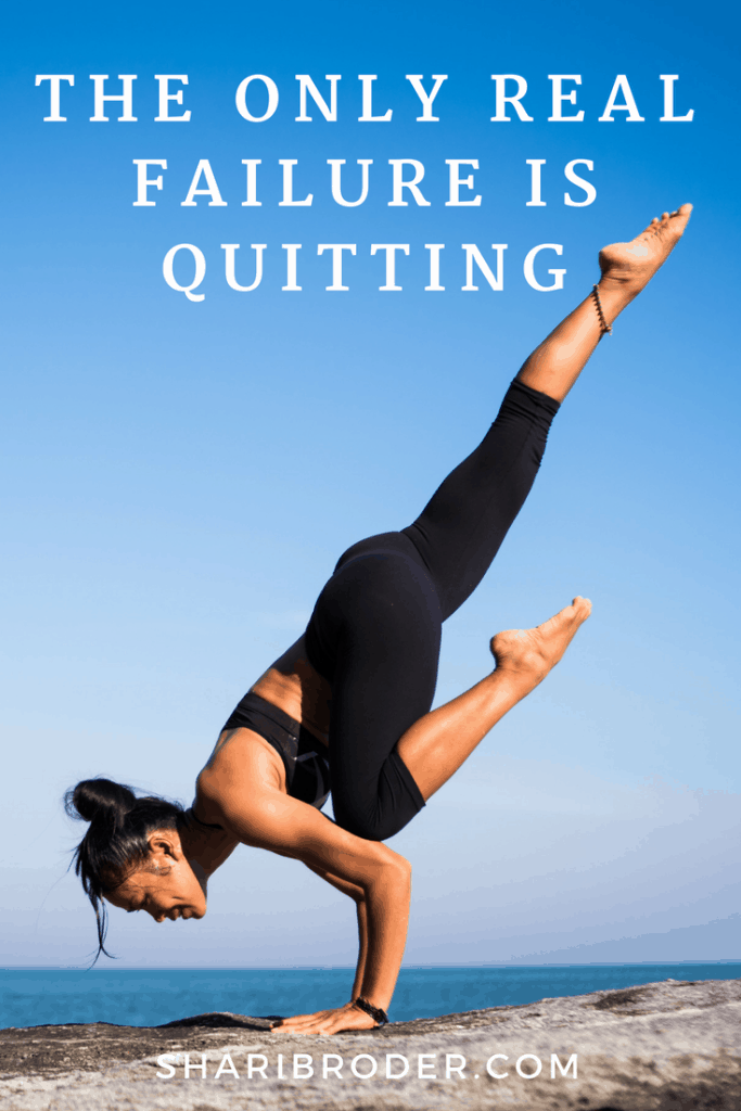 The Only Real Failure Is Quitting | Weight Loss for Foodies