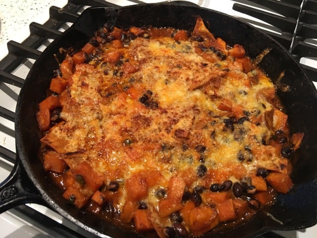 Black Bean Sweet Potato Enchilada Skillet | Weight Loss for Foodies