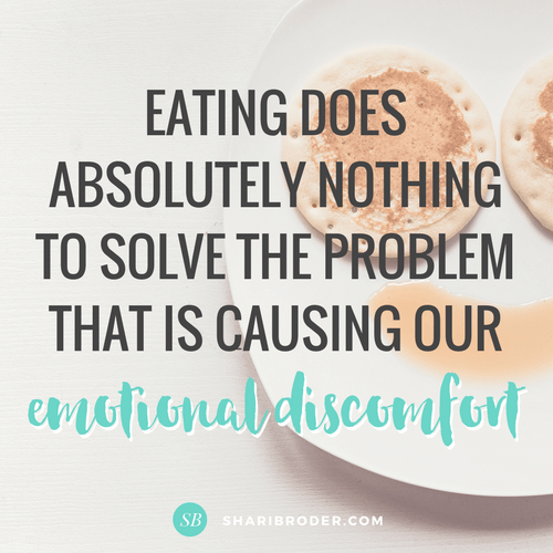 Eating Doesn't Solve the Problem | Weight Loss for Foodies