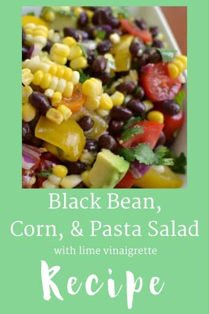 Black Bean, Corn & Pasta Salad