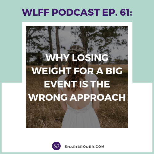 Why Losing Weight for a Big Event is the Wrong Approach | Weight Loss for Foodies Podcast