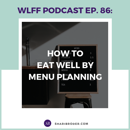 How to Eat Well By Menu Planning | Weight Loss for Foodies Podcast